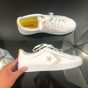 Converse Pro Leather 76 White/Yellow Size 11